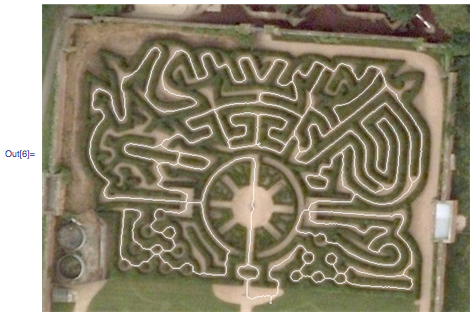 Overlay of the solution on the maze