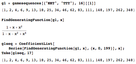 Code to find the harder sequence