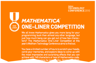 Mathematica One-Liner Competition