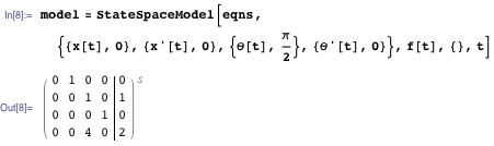 StateSpaceModel with nonlinear equations