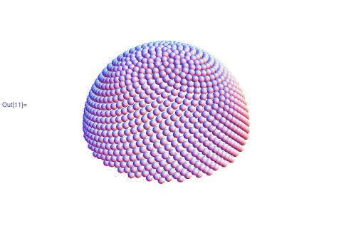Seed-covered hemisphere