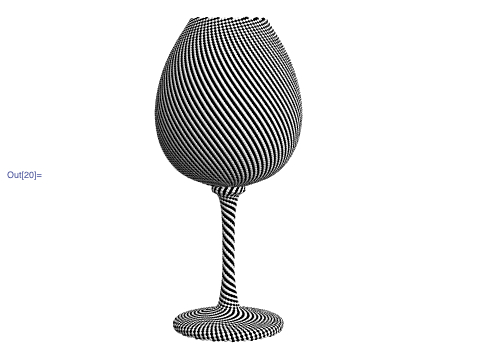 Phyllotaxic wine glass