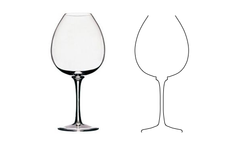 Parametric curve of Peugeot wine glass
