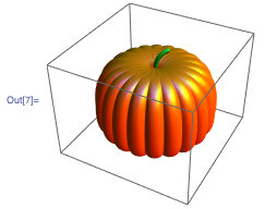 3D rendering of a pumpkin