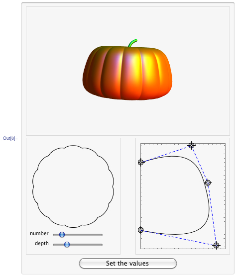 Creating pumpkin surfaces dynamically