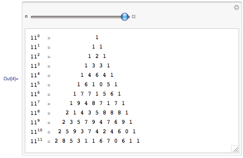 Using Manipulate to build Pascal's triangle