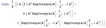 Result of D[Integrate[Sin[t^3], {t, 0, x}], x]