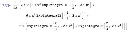 integrand sin(x^3)