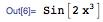 Sin[2x^3]