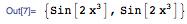 {Sin[2x^3], Sin[2x^3^]}