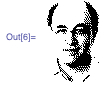 Image of Stephen Wolfram built from white space data