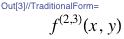 f^(2, 3)(x, y)