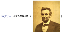 Inporting a photo of Abraham Lincoln