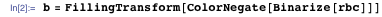 b = FillingTransform[ColorNegate[Binarize[rbc]]]
