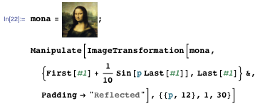 Using ImageTransformation on an image of the Mona Lisa