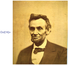 Repaired Abraham Lincoln image