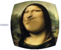 Fisheye effect on the Mona Lisa