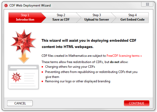 CDF Web Deployment Wizard