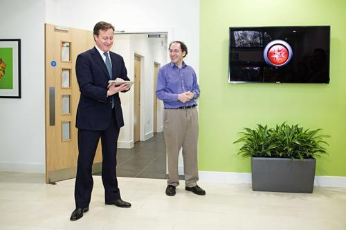 United Kingdom Prime Minister David Cameron and Conrad Wolfram