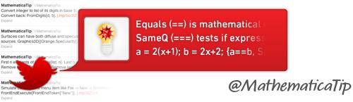 @MathematicaTip