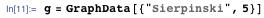 "g = GraphData[{""Sierpinski"", 5}]"