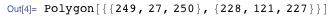Polygon[{{249, 27, 250}, {228, 121, 227}}]
