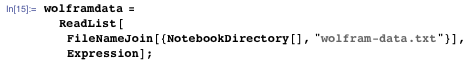 "wolframdata = ReadList[FileNameJoin[{NotebookDirectory[], ""wolfram-data.txt""}], Expression];"