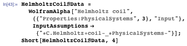 Finding Wolfram|Alpha's result for the Helmholtz coil