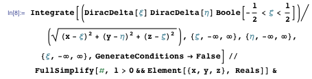 Directly integrating Poisson's equation to obtain the potential using Integrate