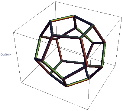 Sketch of the wireframe of a dodecahedron