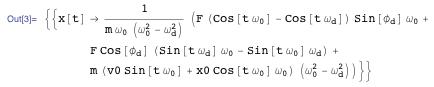 Motion of a classical sinusoidal driven harmonic oscillator