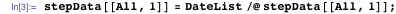 stepData[[All, 1]] = DateList /@ stepData[[All, 1]]