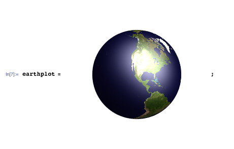 3D plot of the Earth