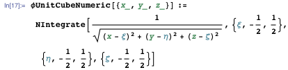 Comparing with the numerical result from explicit integration of Poisson's equation with the Green's function