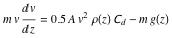 Equation to solve for v
