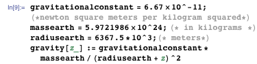 Standard gravitational formula