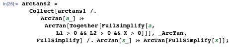 Calculating arctans2