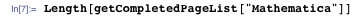 "Length[getCompletedPageList[""Mathematica""]]"