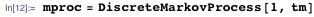 mproc = DiscreteMarkovProcess[1, tm]