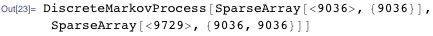 DiscreteMarkovProcess[SparseArray[<9036>, {9036}], SparseArray[<9729>, {9036, 9036}]]