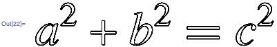 a^2 + b^2 = c^2