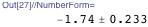 -1.74 ± 0.233
