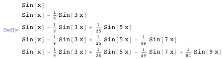 Sine functions