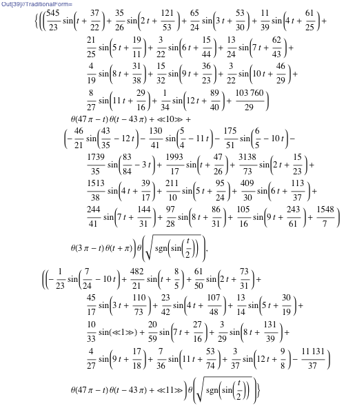 Final formula