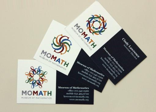 National Museum of Mathematics business cards