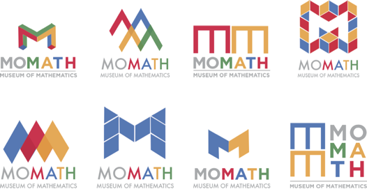 Early logos for the National Museum of Mathematics
