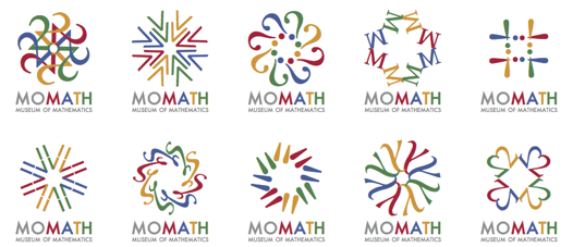 Potential logos for the National Museum of Mathematics