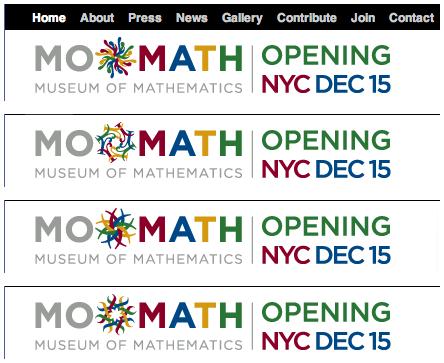 National Museum of Mathematics logos