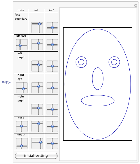 Using more than one curve to construct a face