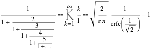 Continued fraction example